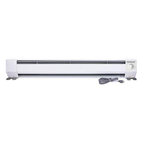 King KP1210 1000-Watt 120-Volt 4-Foot Portable Baseboard Heater, Bright White