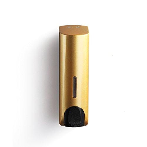 JXXDDQ baño Hotel montado en la Pared de una Sola Cabeza de la Botella dispensador de jabón Gel de Ducha Manual de de la Caja de desinfectante for Las Manos con el Control (Color : Gold)