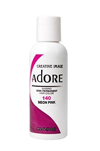 Adore Semi-Permanent Haircolor #140 Neon Pink 4 Ounce (118ml)