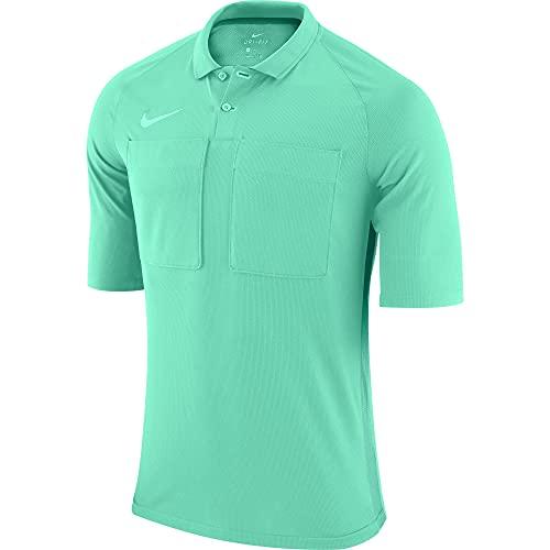 NIKE Dry Referee Top S/S - Camiseta de árbitro para Hombre, Hombre, Camiseta de árbitro, AA0735-354, Turquesa y Verde, XX-Large