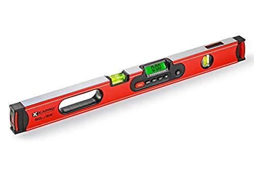 Medid 98560 Wasserwaage mit Digitalanzeige - 60 cm - magnetisch - 3 Libellen - mit stoßdämpfender Transporttasche - rutschfest - mit stoßfesten Endkappen