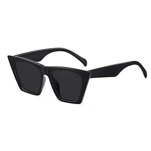 Occhiali da sole Flat Top polarizzati per uomo donna Occhiali da sole stile retrò quadrato stile succinto Occhiali da sole con lenti trasparenti UV400
