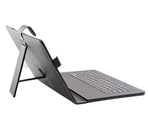 """tastiera per tablet 10.1 AFUNTA Cassa del Cuoio del PC da 10.1 Pollici Universale Tablet con la Tastiera/Supporto per 10""""Tablet PC (con la Micro USB Tastiera)"""