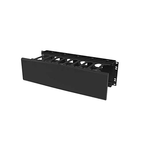 C2G 3RU Single-Sided Horizontal Cable Manager Black (SHMC3RU)