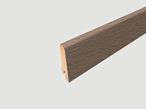 EGGER Home Sockelleiste braun L160 Fußleiste | Bodenleiste 2,4m passt zu EHL053 Murom Eiche natur