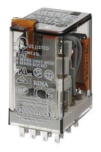 Finder 553480240040 - Relé industrial enchufable en zócalo 4 contactos 7 A...