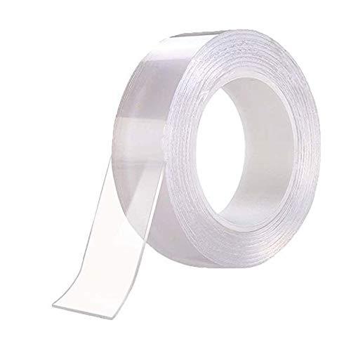 CHOUMARU 両面テープ 超強力 剥がせる ポスター 壁に貼る マジックテープ 強力両面テープ 透明 防水テープ 滑り止め 強力 繰り替え のり残らず 便利な 多機能 震災固定用 両面テープ (横幅50mm*厚さ2mm*長さ5m)