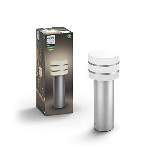 Philips Hue LED Sockelleuchte Tuar für den Aussenbereich, dimmbar, warmweißes Licht, steuerbar via App, kompatibel mit Amazon Alexa (Echo, Echo Dot)