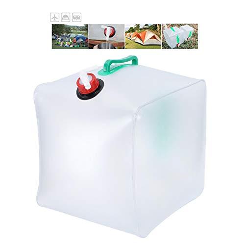 Wosune Cubo Plegable, Bolsa de Agua con diseño de Grifo para Acampar para Adultos para Caminar para niños