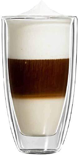 bloomix Roma Latte Macchiato Grande 350 ml, doppelwandige Thermo-Kaffeegläser im 2er-Set