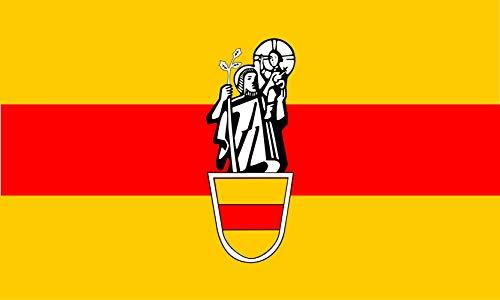 magFlags Flagge: Large Beschreibung der Flagge Die Flagge der Stadt Werne zeigt die Farben Gold und Rot   Querformat Fahne   1.35m²   90x150cm » Fahne 100% Made in Germany