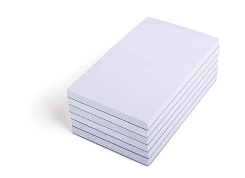 Mintra Office Memo Pads, (Scratch Pads 6pk - 3x5), - Note Pad Paper For Taking Notes And Reminders, Work, Business, Desk, College, School, Organization, Planning