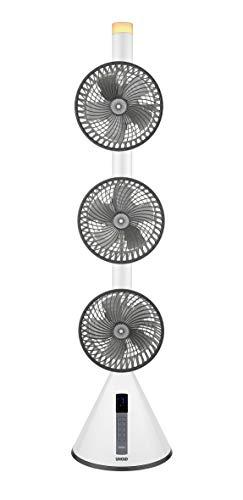UNOLD 86790 STANDVENTILATOR 360°, große Raumabdeckung durch Kombination der Oszillation und der einstellbaren Neigungswinkel, 7-stufige Geschwindigkeitsregelung, Fernbedienung und Nachtlichtfunktion