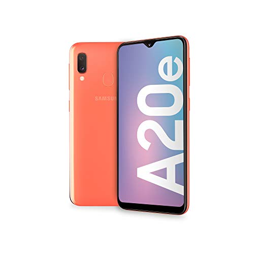 Samsung Galaxy A20e Smartphone, Display 5.8' HD+, 32 GB Espandibili, RAM 3 GB, Batteria 3000 mAh, 4G, Dual SIM, Android 9 Pie, [Versione Italiana], Coral