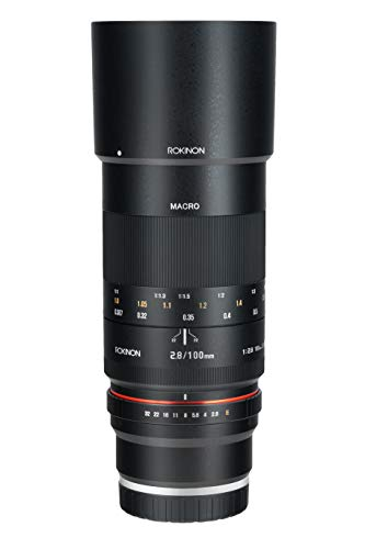 Rokinon 100mm F2.8 ED UMC Full Frame Telephoto Macro Lens for Sony E-Mount Interchangeable Lens Cameras