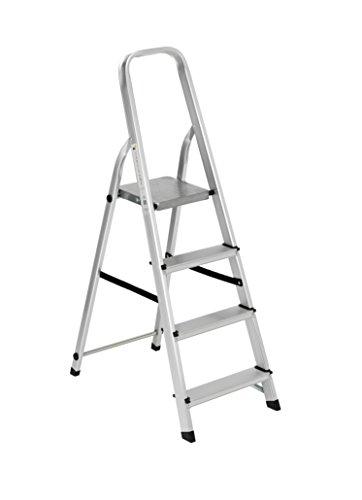 Scala alluminio Everest 4 gradini Per uso domestico e bricolage Portata max 150 kg.