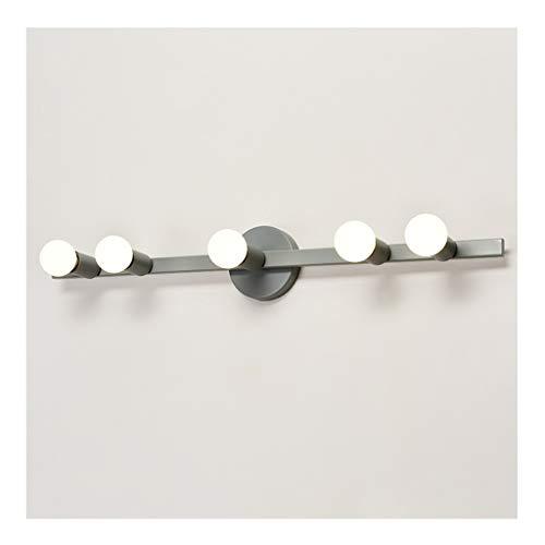 - Badkamerlamp spiegellamp wandlamp - Hollywood-stijl spiegellamp (E27 * 5 metaal) kaptafel garderobe bureau hotel badkamerlamp