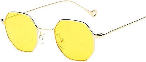 XGBDTJ Strand Urlaub Retro Multicolor Polygon Brille Mode Living Mode Klassisch Damen Herren Farbverl Polarisierte Sonnenbrille (Color : Gelb, Size : Size)