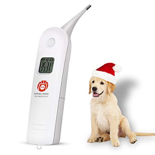 Termómetro Electrónico para Animales Termómetro para Mascotas El termómetro Digital es un Termómetro Rectal Rápido para Perros, Gatos, Caballos, Ganado, Clínica de Mascotas
