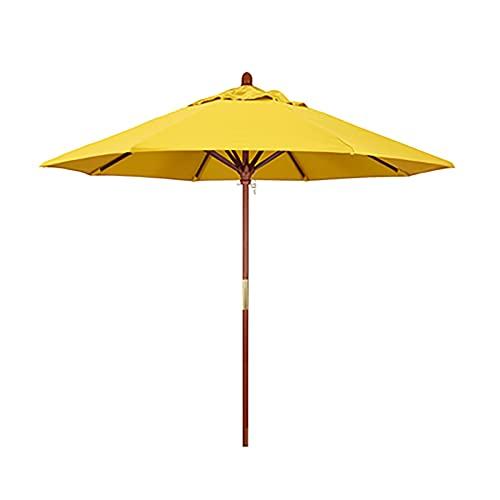 Sombrilla Sombrilla de playa redonda extra grande a prueba de lluvia y sol para patio, sombrilla de mesa para mesas de café, con 8 varillas de sombrilla resistentes, para picnics familiares en la play