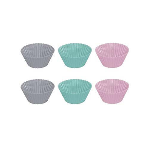Jogo de Forma em Silicone para Muffin 12 peças