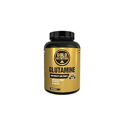 Goldnutrition Glutamine 1000mg, 90 cápsulas, Anticatabólico y Recuperador