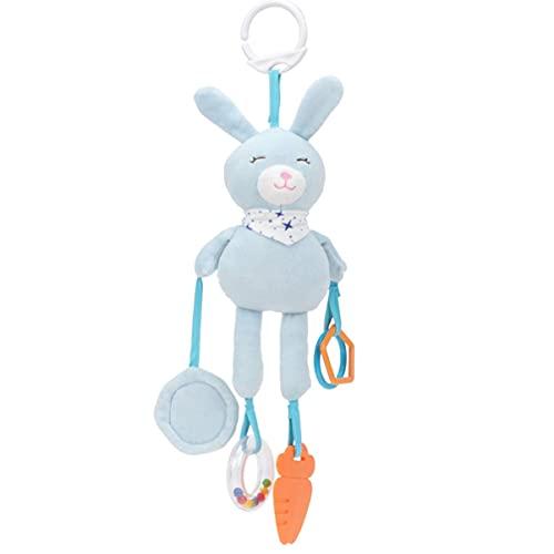 Bebé colgante sonajero juguetes bebé bebé cuna colgante campana bebé cochecito bebé asiento de coche cama felpa conejo animal mordedores viento carillón actividad desarrollo juguete jxnb
