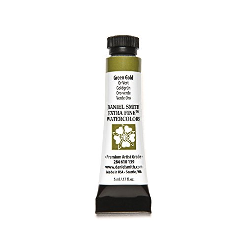 DANIEL SMITH Extra Fine Watercolor Paint, 5ml Tube, Green Gold, 284610139