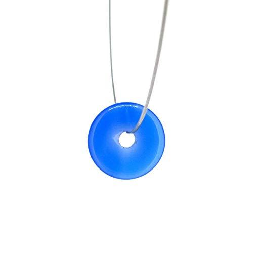 Donut Pequeño Agata Azul para Colgante Minerales y Cristales, Belleza energética, Meditacion, Amuletos Espirituales