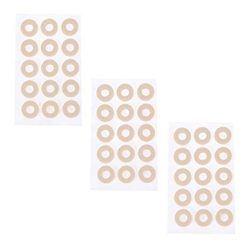 EXCEART 45 Piezas de Almohadillas de Maíz Almohadilla Del Dedo Del Pie Moleskin Cinta Adhesiva Almohadillas de Talón Pegatinas de Prevención de Ampollas Almohadillas para Los Pies