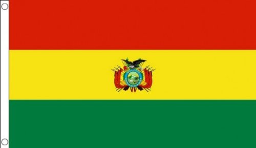 5ft x 3ft (150 x 90 cm) Bolivia Bolivian Crest State 100% Polyester Material Flag Banner Ideal For Pub Club School Festival Business Party Decoration by Flag Co