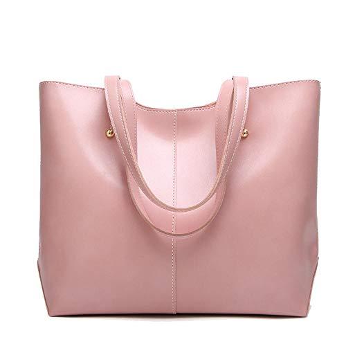 Tote Bag Shopper met lange handgrepen van leer voor dames, elegante schoudertas, laptoptas, reistas voor dames, Violeta (Roze) - 9381892285234