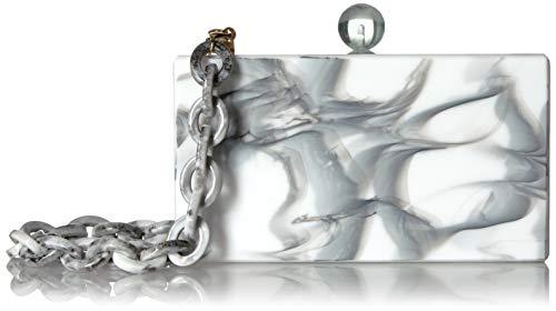 Circus By Sam Edelman Damen Jansen Acrylic Case Clutch, weiß/grau, Einheitsgröße