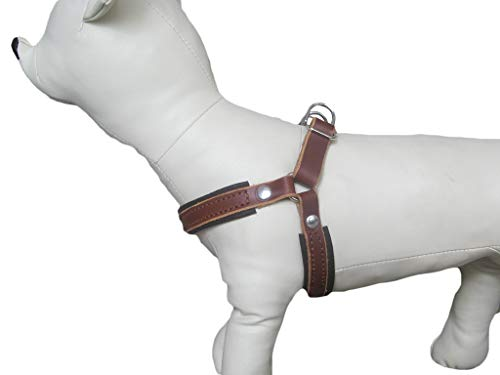 Step in Dog Harness in Light Brown Leather, Ideal for Small and Medium Breeds, Comfort No Pull Dog Harness, YupCollars, Made in Italy