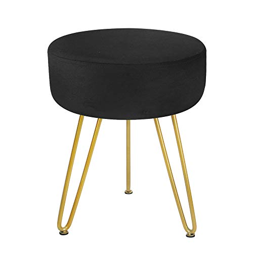 Patio Metal Side Table Small Round Coffee Tea Little Accent Snack Steel End Table Weather Resistant Outdoor Bistro Garden Porch Yard Balcony Lawn Black (Black)