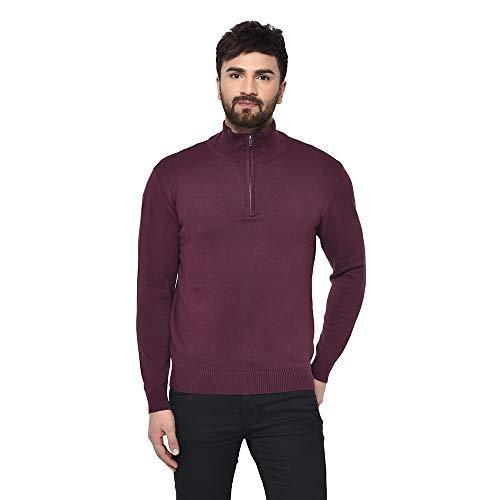 Armisto Men's Plain Half Zipper Winter Sweater Sports wear/Casual Wear/Office Wear/Good for Traveling