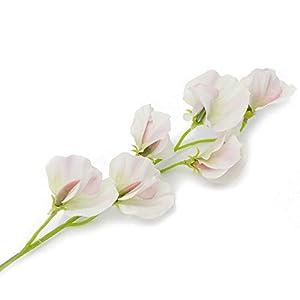 Crafty Capers Single 45cm Pretty Sweet Pea Stem – Premium Artificial Fabric Flowers