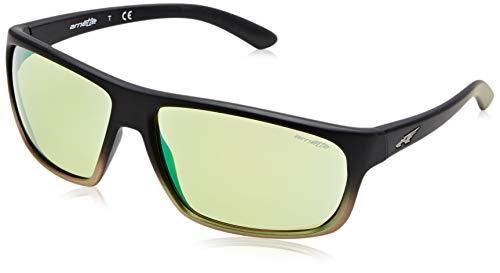 Arnette 0AN4225 24258N 64 Occhiali da sole, Nero (Black Grad Shot Green/Lightgreenmirrorgreen), Uomo