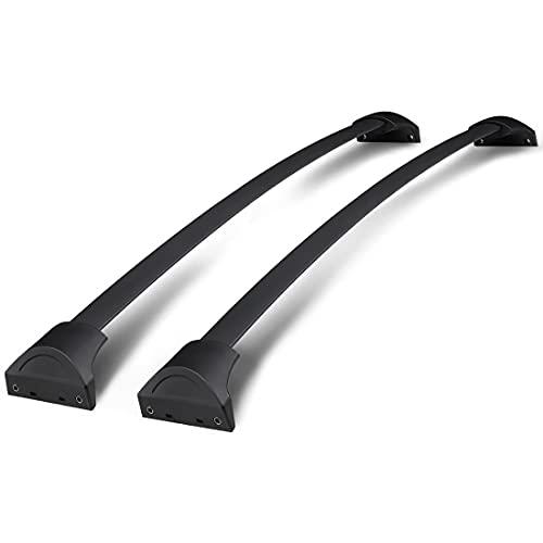 LINMAN Compatible con Honda Pilot 2016 2017 2018 2019 2020 2021, Pareja OE Estilo de Aluminio Black Cross Bar Top Buggage Carrier Touft Rack