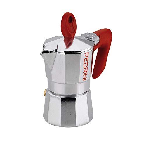 Pedrini 9080-0 caffettiera Mezza Tazza, Alluminio, Rosso