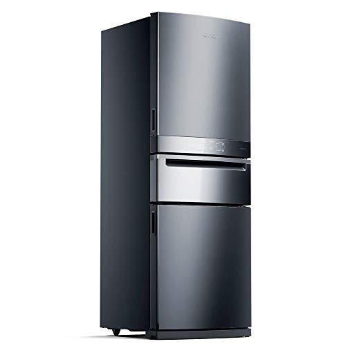 Geladeira Brastemp Inverse 3 Frost Free 419 litros cor Inox com Freeze Control Pro - BRY59AK 220V