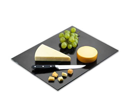 "Tempered Black Glass Cutting Board – Long Lasting Black Glass – Scratch Resistant, Heat Resistant, Shatter Resistant, Dishwasher Safe. (XLarge 16x20"")"