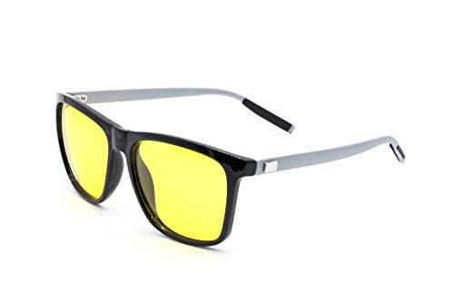 H HARDUS Nachtfahrbrille | Nachtsichtbrille | Nachtbrille zum Autofahren | Polarisierte Sonnenbrille | Kontrast Fahrbrille gegen blendendes Licht
