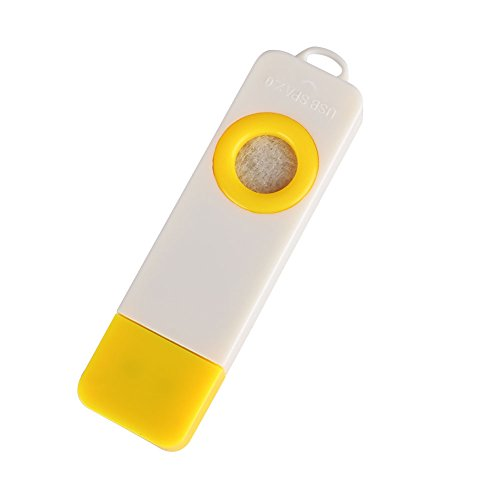 Leaftree Mini Dispositivo de aromaterapia USB, humidificador de Aire del Coche, purificador de Aire Interior, difusor de Aroma portátil con un gotero - Amarillo