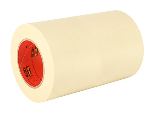 3M General Use 201+ Masking Tape - 8 in. (W) x 180 ft. (L) Crepe Masking Tape Roll with Solvent Free Rubber Adhesive