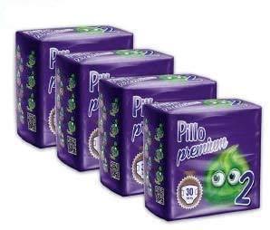 Pillo Premium Taglia 2 MINI (3/6 KG), 4 cf da 30 pannolini (TOTALE 120 PANNOLINI!!) Ottima alternativa Italiana ad Huggies e Pampers