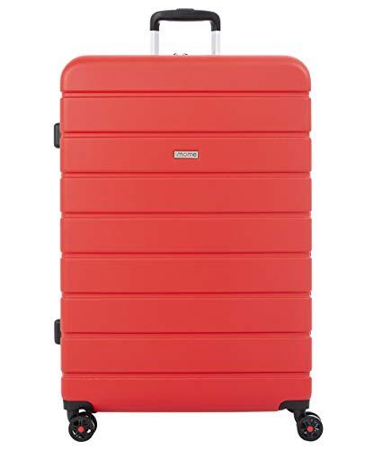 imome Top Maleta Grande Roja Cierre TSA 77x53x32/35 cm Expandible | Trolley de Viaje con Carga USB | Maleta de Viaje Rígida 100% ABS Reforzado, Antiarañazos