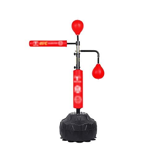 Zhirong Boxreaktionsziel Rotierender Reaktor Geschwindigkeitsball Stockziel Inländisches Multifunktionales Boxziel Boxsack-Trainingsgerät (Color : Red, Size : 50 * 190cm)