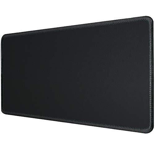 Silmo Tapis de Souris XXL (900 x 300 mm) Mouse Pad Grand, Motif Noir, approprié pour Souris de Bureau et Souris de Gaming