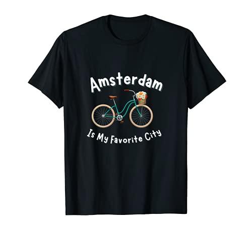 Amsterdam Bike Retro Maglia Da Ciclismo Olanda Maglietta